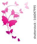 butterflies design | Shutterstock . vector #166047995
