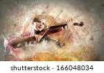 Image Of Gorgeous Woman Playin...