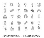 set of linear alcohol icons.... | Shutterstock .eps vector #1660510927