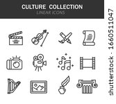 culture collection linear icons ... | Shutterstock .eps vector #1660511047