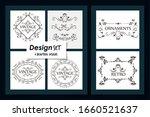 six designs of vintage... | Shutterstock .eps vector #1660521637