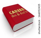 career dos donts book cover job ... | Shutterstock . vector #166052435