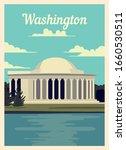Retro Poster Washington City...