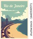 Retro Poster Rio De Janeiro...