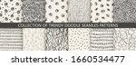 set of seamless hand drawn...   Shutterstock .eps vector #1660534477