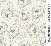 monochrome seamless pattern... | Shutterstock .eps vector #1660534537