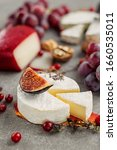 Cheese Camembert On Concrete...