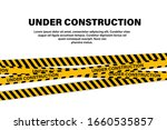under construction tape or... | Shutterstock .eps vector #1660535857