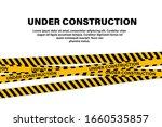 under construction tape or... | Shutterstock .eps vector #1660535857