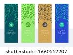 organic makeup banners set.... | Shutterstock .eps vector #1660552207