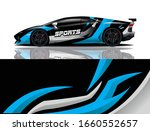 sports car wrapping decal design   Shutterstock .eps vector #1660552657