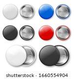 blank badge  pin. vector... | Shutterstock .eps vector #1660554904