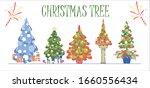 beautiful christmas trees...   Shutterstock .eps vector #1660556434