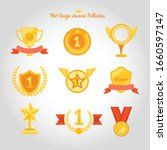 trophy and awards icons set. | Shutterstock .eps vector #1660597147