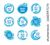 water and drop icons set  ... | Shutterstock .eps vector #1660597174