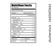 nutrition facts design label.... | Shutterstock .eps vector #1660605661