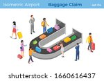 people pick up luggage in... | Shutterstock .eps vector #1660616437