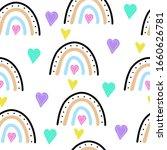 hand drawn colourful rainbow...   Shutterstock .eps vector #1660626781