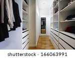 contemporary spacious walk in... | Shutterstock . vector #166063991