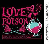 love poison vector illustration....   Shutterstock .eps vector #1660653484