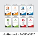 id card design template modern... | Shutterstock .eps vector #1660668037