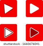 red play button icons set... | Shutterstock .eps vector #1660676041