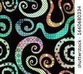 abstract vintage spiral...   Shutterstock . vector #1660680334