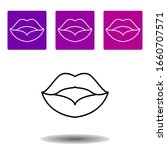 lips icon . simple outline...