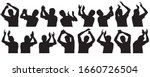 set of silhouettes of man.... | Shutterstock .eps vector #1660726504