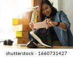 women business owner taking... | Shutterstock . vector #1660731427
