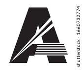 simple art monochrome alphabet... | Shutterstock .eps vector #1660732774
