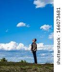 checking the sky | Shutterstock . vector #166073681