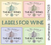 set of labels for wine with... | Shutterstock .eps vector #166079225