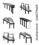 various bridges in perspective  ... | Shutterstock .eps vector #166079669