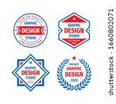 graphic design studio badge... | Shutterstock .eps vector #1660802071