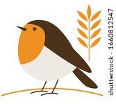 Robin Bird  Vector Illustratio...