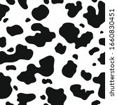 cow skin texture  black and... | Shutterstock .eps vector #1660830451