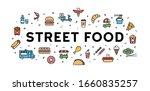 vector street food banner... | Shutterstock .eps vector #1660835257