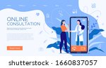 phone video call to the doctor ... | Shutterstock .eps vector #1660837057