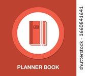 organizer planner book icon  ... | Shutterstock .eps vector #1660841641
