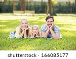 portrait of a young cheerful... | Shutterstock . vector #166085177