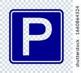 parking public icon street... | Shutterstock .eps vector #1660864324