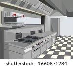 restaurant equipment. modern... | Shutterstock .eps vector #1660871284