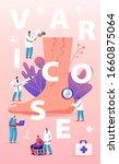 varicose treatment concept....   Shutterstock .eps vector #1660875064