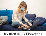Woman In Quarantine Wearing...