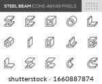 steel beam vector line icons.... | Shutterstock .eps vector #1660887874