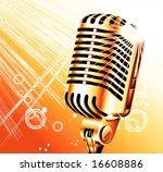 vintage retro singer microphone   Shutterstock . vector #16608886