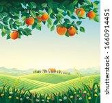 summer landscape with apple... | Shutterstock . vector #1660914451