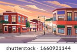 street of town at morning....   Shutterstock .eps vector #1660921144