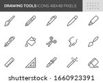 drawing and writing tools... | Shutterstock .eps vector #1660923391